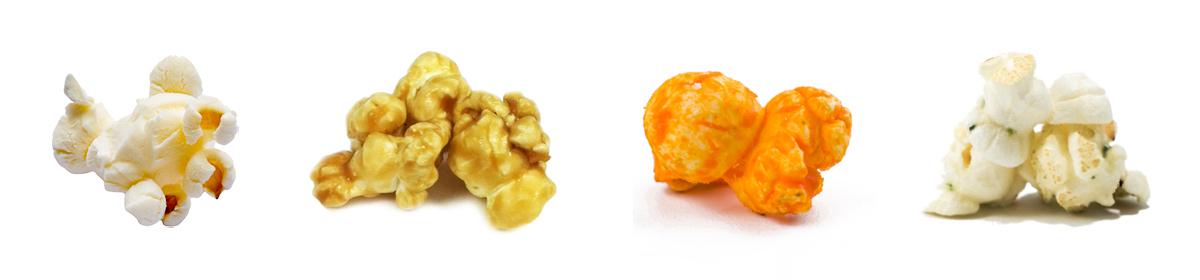 Plain, Caramel, Cheese and Sour Cream and Chives Popcorn available in store daily from 10am to 8pm.
